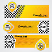 Taxi company banner set of 3 — Stock Vector