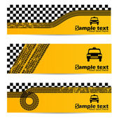 Taxi tire banner set of 3 — 图库矢量图片