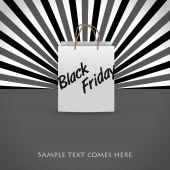 Black friday advertising background design — Stock Vector