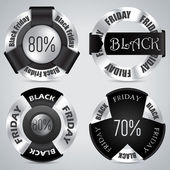 Black friday badge set of 4 — Stock Vector