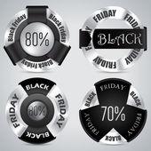 Black friday badge set of 4 — Stock Vector