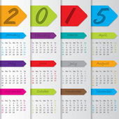 Arrow ribbon calendar for the year 2015 — Vettoriale Stock