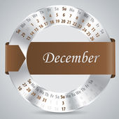 2015 december calendar design — Vettoriale Stock