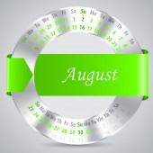 2015 august calendar design — Vettoriale Stock