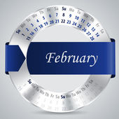 2015 february calendar design — Vettoriale Stock