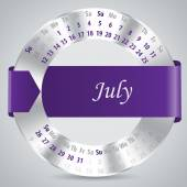 2015 july calendar design — Vettoriale Stock
