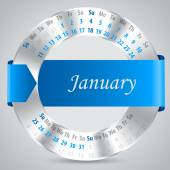 2015 january calendar design — Vettoriale Stock