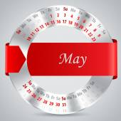 2015 may calendar design — Vettoriale Stock