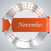 2015 november calendar design — Vettoriale Stock