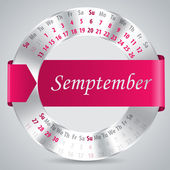 2015 september calendar design — Vettoriale Stock