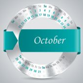 2015 october calendar design — Vettoriale Stock