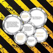 Industrial infographic design — Vector de stock