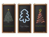Christmas label set of three — Stock Vector
