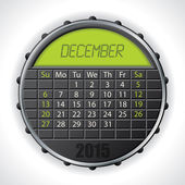 2015 december calendar with lcd display — Vettoriale Stock