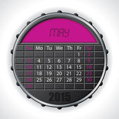 2015 may calendar with lcd display — Vettoriale Stock
