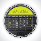 2015 september calendar with lcd display — Vettoriale Stock