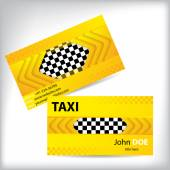 Abstract taxi business card design — Stock Vector