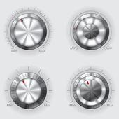 Metallic volume controllers — Stockvector