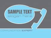Communication company advertisement background design — Stock Vector