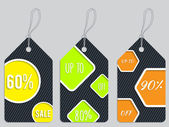 Vivid color discount labels — Stock Vector