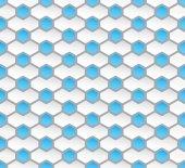 Seamless hexagon pattern background — Stock Vector