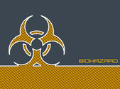 Bio hazard warning background — Stock Vector