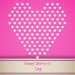 Valentine greeting with small white hearts — Stock Vector #62131339