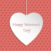 Simple Valentine Day greeting card — Stock Vector