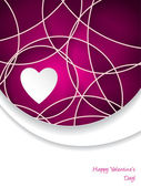 Valentine's day greeting card with pink text — Vector de stock