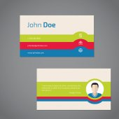 Two sided business card with photo — Stock Vector
