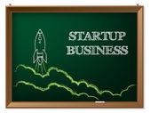 Startup business background design — Vector de stock