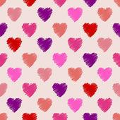 Scribbled heart pattern design — Stock Vector
