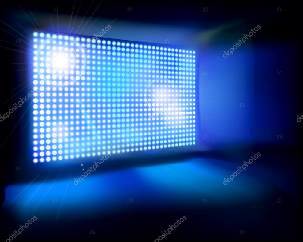Big Led Screen Vector Illustration Stock Vector