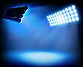 Spot lighting on the stadium. Vector illustration. — Stock Vector