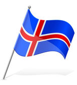 Flag of Iceland vector illustration — Stock Vector