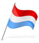 Flag of Luxembourg vector illustration — Stock Vector