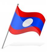 Flag of Laos vector illustration — Stock Vector