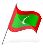 Flag of Maldives vector illustration — Stock Vector