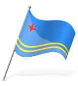 Flag of Aruba vector illustration — Stock Vector