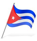 Flag of Cuba vector illustration — Stock Vector