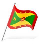 Flag of Grenada vector illustration — Stock Vector