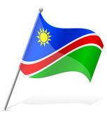 国旗的纳米比亚矢量图 — 图库矢量图片