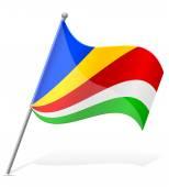 Flag of Seychelles vector illustration — Stock Vector