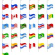 Flags North and South Americas countries vector illustration — Stock Vector #53818937