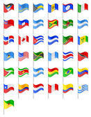 Flags North and South Americas countries vector illustration — Stock Vector