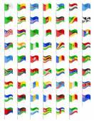 アフリカの国の国旗ベクトル イラスト — ストックベクタ