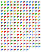Set icons flags of the world countries vector illustration — Vettoriale Stock