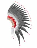 Mohawk hat of the american indians vector illustration — Stockvector