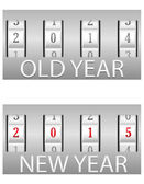 Combination lock old and the new year vector illustration — Stock Vector