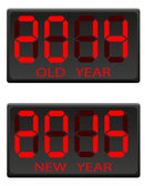 Electronic scoreboard old and the new year vector illustration — Stock Vector